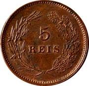 Portugal 5 Reis 1899 KM# 530 Kingdom Decimal coinage 5 REIS coin reverse