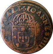 Portugal 5 Reis Joao IV ND KM# 27 IOANNES IIII D G REX PORTVGALI coin obverse