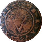 Portugal 5 Reis Joao IV ND KM# 27 V REX XVIII coin reverse