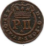 Portugal 5 Reis Pedro II 1699 KM# 167 P.II D.G.PORT.ET.ALG.REX coin obverse