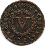 Portugal 5 Reis Pedro II 1699 KM# 167 V VTILITATI PVBLICÆ coin reverse