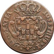 Portugal 5 Reis (V) 1752 KM# 242.1 Kingdom Milled coinage IOSEPHUS I DEI GRATIA coin obverse