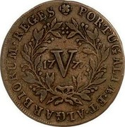 Portugal 5 Reis (V) 1777 KM# 261 Kingdom Milled coinage PORTVGALIE . ET . ALGARBIORUM . REGES 17V77 coin reverse