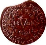 Portugal 5 Reis (V) 1801 KM# 325 Kingdom Milled coinage PORTUGALIAE ET ALGARB PRINCEPS V coin reverse