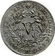 Portugal 5 Reis (V) 1812 KM# 347 Kingdom Milled coinage coin obverse