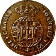 Portugal 5 Reis (V) 1824 KM# 355 Kingdom Milled coinage coin obverse