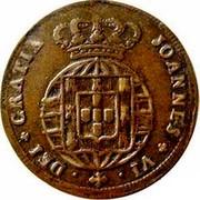 Portugal 5 Reis (V) 1824 KM# 355 Kingdom Milled coinage DEI GRATIA JOANNES VI coin obverse