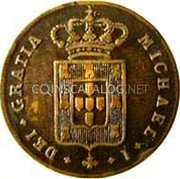 Portugal 5 Reis (V) 1829 KM# 389 Kingdom Milled coinage coin obverse