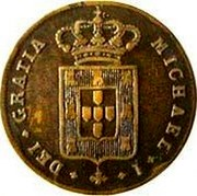 Portugal 5 Reis (V) 1829 KM# 389 Kingdom Milled coinage MICHAEL I DEI GRATIA coin obverse