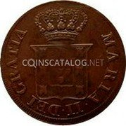Portugal 5 Reis (V) 1833 KM# 398 Kingdom Milled coinage coin obverse