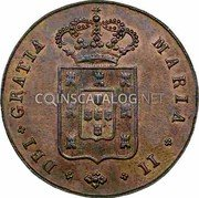 Portugal 5 Reis (V) 1836 KM# 408 Kingdom Milled coinage coin obverse
