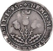 UK 5 Shillings (James VI) NEMO ME IMPVNE LACESSIT 1595 coin reverse