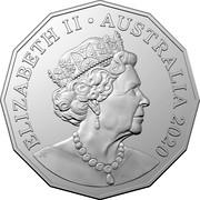 Australia 50 Cents 60 Years SATCC upercars 2020 UNC in Coincard in 9 Coin Tin ELIZABETH II AUSTRALIA 2020 JC coin obverse