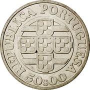 Portugal 50 Escudos 125th Anniversary of the Bank of Portugal 1971 KM# 601 REPUBLICA PORTUGUESA 50$00 coin obverse
