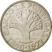 Portugal 50 Escudos 125th Anniversary of the Bank of Portugal 1971 KM# 601 ANCO DE PORTUGAL J. A. MANTA DEL. M. NORTE SCVL. 1846 1971 coin reverse