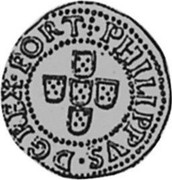 Portugal 50 Reis (1/2 Tostao) Filipe II ND KM# 5 PHILIPPVS I D G REX PORT coin obverse