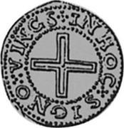 Portugal 50 Reis (1/2 Tostao) Filipe II ND KM# 5 IN HOC SIGNO VINCES coin reverse