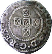 Portugal 50 Reis (1/2 Tostao) ND KM# 16 Kingdom Dump coinage coin obverse