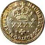 Portugal 50 Reis (1/2 Tostao) ND KM# 381 Kingdom Milled coinage coin obverse