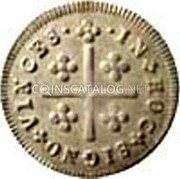 Portugal 50 Reis (1/2 Tostao) ND KM# 381 Kingdom Milled coinage coin reverse