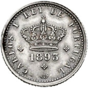 Portugal 50 Reis 1893 KM# 536 Kingdom Decimal coinage coin obverse