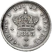 Portugal 50 Reis 1893 KM# 536 Kingdom Decimal coinage coin obverse