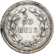 Portugal 50 Reis 1893 KM# 536 Kingdom Decimal coinage coin reverse