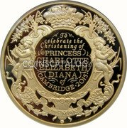 UK 500 Pounds (Royal Christening) To celebrate the Christening of PRINCESS CHARLOTTE ELIZABETH DIANA of CAMBRIDGE 2015 DIEU ET·MON DROIT JB coin reverse