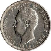 Portugal 500 Reis 1888 KM# 509 Kingdom Decimal coinage coin obverse