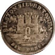 UK 6 Pence Staffordshire - Bilston / Rushbury & Woolley 1811  BILSTON SILVER TOKEN SIXPENCE coin obverse