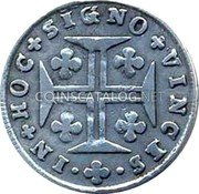 Portugal 60 Reis (3 Vintens) ND KM# 312 Kingdom Milled coinage coin reverse