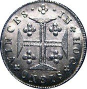 Portugal 60 Reis (3 Vintens) ND KM# 351 Kingdom Milled coinage coin reverse