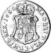UK 60 Shillings (William II) MAG · BRIT · FRA · ET · HIB · REX · 1699 coin reverse