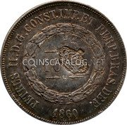 Portugal 600 Reis ND KM# 28.2 Portuguese Administration Countermarked coinage (1871 Decree) coin obverse