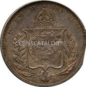 Portugal 600 Reis ND KM# 28.2 Portuguese Administration Countermarked coinage (1871 Decree) coin reverse