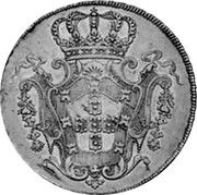 Portugal 8 Escudos (Dobra) 1725 KM# 222.2 Kingdom Milled coinage coin reverse