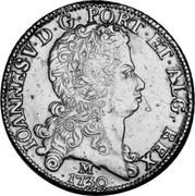 Portugal 8 Escudos (Dobra) 1730 KM# 222.7 Kingdom Milled coinage IOANNES V D G PORT ET ALG REX M 1730 coin obverse