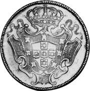 Portugal 8 Escudos (Dobra) 1730 KM# 222.7 Kingdom Milled coinage coin reverse