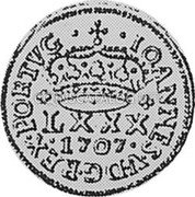 Portugal 80 Reis (LXXX. Tostao) 1707 P KM# 180 Kingdom Milled coinage coin obverse