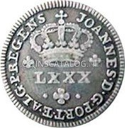 Portugal 80 Reis (LXXX. Tostao) ND KM# 315 Kingdom Milled coinage coin obverse