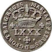 Portugal 80 Reis (LXXX. Tostao) ND KM# 265 Kingdom Milled coinage coin obverse