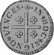 Portugal 80 Reis ND KM# 238.1 Kingdom Milled coinage coin reverse