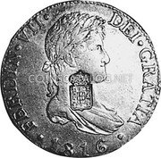 Portugal 870 Reis ND INCM KM# 440.37 Kingdom Countermarked coinage (870 Reis) coin obverse