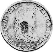 Portugal 870 Reis ND INCM KM# 440.18 Kingdom Countermarked coinage (870 Reis) coin obverse