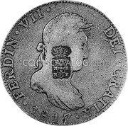 Portugal 870 Reis ND INCM KM# 440.15 Kingdom Countermarked coinage (870 Reis) coin obverse