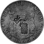 Portugal 870 Reis ND INCM KM# 440.42 Kingdom Countermarked coinage (870 Reis) coin obverse
