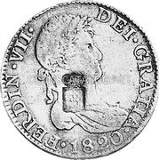 Portugal 870 Reis ND INCM KM# 440.40 Kingdom Countermarked coinage (870 Reis) coin obverse