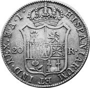 Portugal 870 Reis ND INCM KM# 440.36 Kingdom Countermarked coinage (870 Reis) coin reverse
