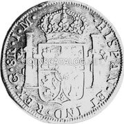 Portugal 870 Reis ND INCM KM# 440.18 Kingdom Countermarked coinage (870 Reis) coin reverse