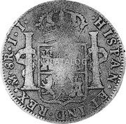 Portugal 870 Reis ND INCM KM# 440.15 Kingdom Countermarked coinage (870 Reis) coin reverse